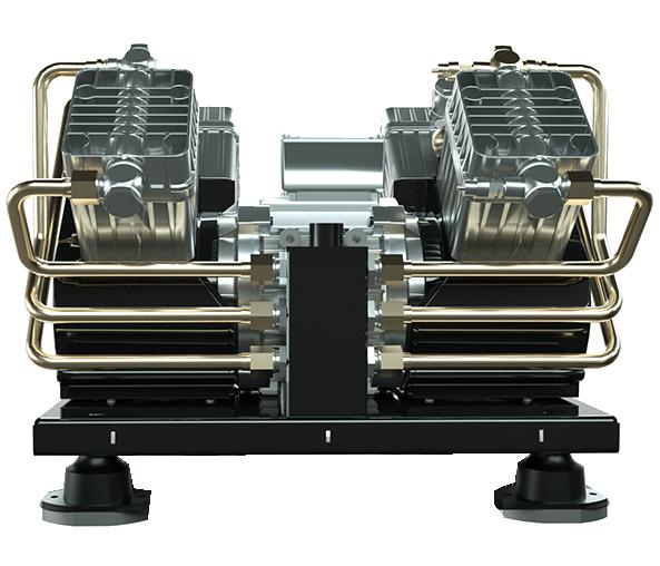 Compresor de aire de pistón libre aceite para autobuses elctrico